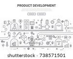 product development doodle... | Shutterstock .eps vector #738571501