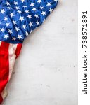 usa flag. american flag. top of ... | Shutterstock . vector #738571891