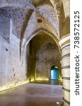 Small photo of Arched pass in ancient masonry Templar castle. Old city of Acre, Israel.