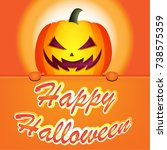 happy halloween banner  vector | Shutterstock .eps vector #738575359