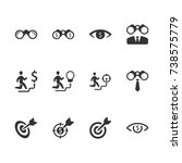 business vision icons | Shutterstock .eps vector #738575779
