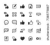 feedback icons | Shutterstock .eps vector #738575887