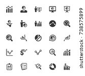 graph and diagram icons | Shutterstock .eps vector #738575899