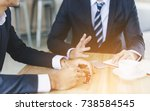 business people or students... | Shutterstock . vector #738584545