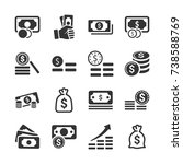 money stacks icons | Shutterstock .eps vector #738588769