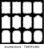 collection of frames and empty... | Shutterstock .eps vector #738591481