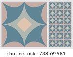 arabic patter style tiles for... | Shutterstock .eps vector #738592981