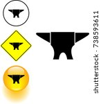 anvil symbol sign and button   Shutterstock .eps vector #738593611