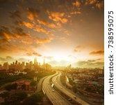 malaysia capital city... | Shutterstock . vector #738595075