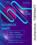 futuristic vibrant vector... | Shutterstock .eps vector #738596677