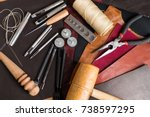 leather craft tool | Shutterstock . vector #738597295