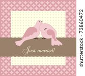 wedding announcement with doves ... | Shutterstock .eps vector #73860472