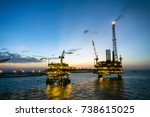 offshore production platform... | Shutterstock . vector #738615025