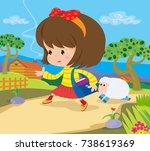 illustration of the famous... | Shutterstock . vector #738619369