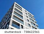 modern  luxury apartment... | Shutterstock . vector #738622561
