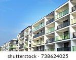 modern  luxury apartment...   Shutterstock . vector #738624025
