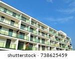 modern  luxury apartment... | Shutterstock . vector #738625459