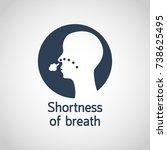 shortness of breath vector logo ... | Shutterstock .eps vector #738625495