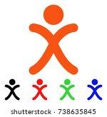 x generation boy icon. vector... | Shutterstock .eps vector #738635845
