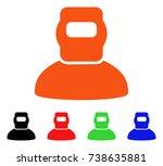welder icon. vector... | Shutterstock .eps vector #738635881
