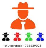 gentleman icon. vector...   Shutterstock .eps vector #738639025