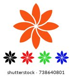 abstract flower icon. vector...   Shutterstock .eps vector #738640801