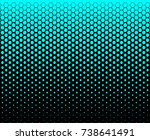 hexagon fade pattern blue sky... | Shutterstock .eps vector #738641491