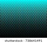 hexagon fade pattern blue sky... | Shutterstock .eps vector #738641491
