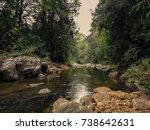 waterfall. forest reserve  rain ... | Shutterstock . vector #738642631