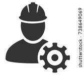 service man vector pictogram....   Shutterstock .eps vector #738649069