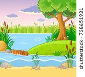 vector illustration with a dam... | Shutterstock .eps vector #738651931