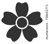 flower vector icon. style is...   Shutterstock .eps vector #738652771