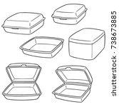 vector set of foam container | Shutterstock .eps vector #738673885