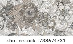 fabric texture background  ... | Shutterstock . vector #738674731