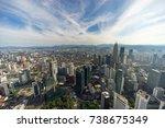 kuala lumpur  malaysia   18th... | Shutterstock . vector #738675349