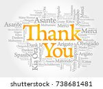 thank you word cloud in... | Shutterstock . vector #738681481