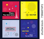placard templates set with... | Shutterstock .eps vector #738687691