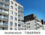 modern  luxury apartment...   Shutterstock . vector #738689869