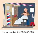 vector illustration of roadside ... | Shutterstock .eps vector #738691039