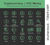 cryptocurrency. ico. mining.... | Shutterstock .eps vector #738691489