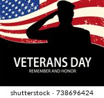 memorial day. soldier on... | Shutterstock .eps vector #738696424