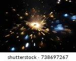 spinning cracker beauty   Shutterstock . vector #738697267