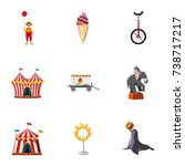 traveling chapiteau circus...   Shutterstock . vector #738717217