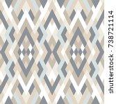 mosaic seamless pattern. vector ... | Shutterstock .eps vector #738721114