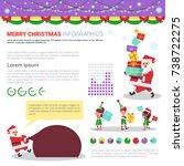 merry christmas infographic... | Shutterstock .eps vector #738722275
