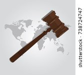 international law arbitration... | Shutterstock .eps vector #738724747