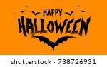 vector happy halloween... | Shutterstock .eps vector #738726931