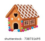 vector xmas colorful... | Shutterstock .eps vector #738731695