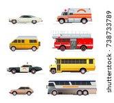 american cars set | Shutterstock .eps vector #738733789