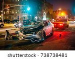 car crash | Shutterstock . vector #738738481
